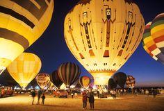 At the annual hot air balloon festival in Albuquerque, New mexico.