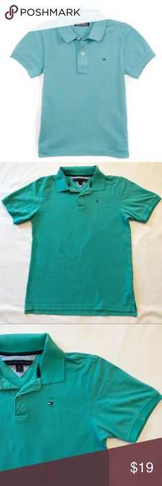 Tommy Hilfiger Mint Polo Stand out and make a statement with this mint green polo! Size XL (20) -- {10} Tommy Hilfiger Shirts & Tops Polos