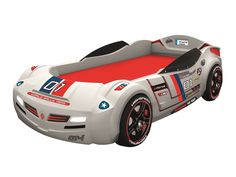 Found it at Wayfair - Need for Sleep GT Turbo Car Bed with Roadster Mattress Twin Car Bed, Toddler Car Bed, Kids Car Bed, Race Car Bed, Convertible Toddler Bed, Gt Turbo, Turbo Car, Modern Kids Beds, Trundle Bed With Storage