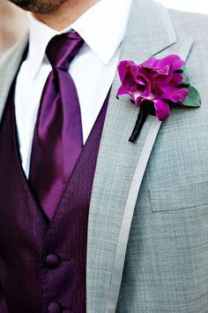 purple groomsmen attire - no jacket though Wedding Tux, Purple Wedding, Wedding Attire, Trendy Wedding, Perfect Wedding, Wedding Colors, Dream Wedding, Wedding Dresses, Wedding Ideas