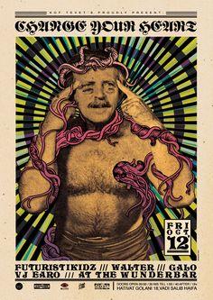 """""""CHANGEYOURHEART"""", a poster by Broken Fingaz"""