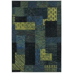 Nice Style Selections Bickerton Rectangular Blue Geometric Tufted Area Rug  (Common: 8 Ft X