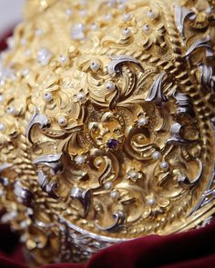 Details from festive ornate Chalice of highest artistic value. Particularly hard work made from pure silver, hundreds of natural pearls, semiprecious stones, gold-plated using method of electroplating. Byzantine Art, Hard Work, Utensils, Festive, Handmade, Stones, Pearls, Jewelry, Natural