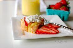 Lemon Curd with Angel Food Cake - Yum!