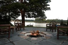 Lakeside fire pit by Janice Parker Landscape Design. http://www.ultraoutdoors.com/photos/fire-pits/page/2
