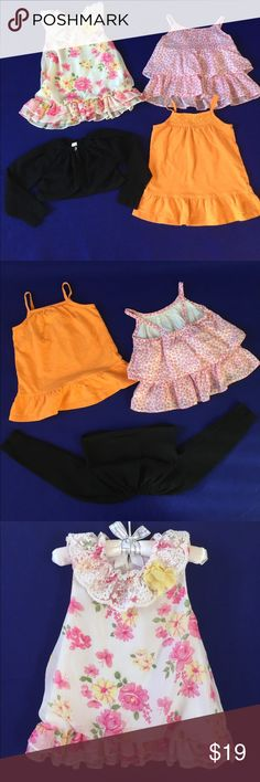 Lot of 4 top pieces for 18M cardigan shirts Lot of 4 pieces for 18M in excellent condition. Flowery with Lace collar is Nannette Baby 18M. Orange is Carter's 18M. Pink flowers is Old Navy 18-24M. The black short cardigan is Cherokee 18M Nannette Baby Shirts & Tops Tees - Short Sleeve