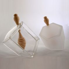 Clear   Frosted Hive Set 2 Pack now featured on Fab.