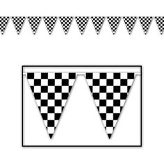 Checkered Pennant Banner Party Accessory (1 count) (1/Pkg) Beistle http://www.amazon.com/dp/B000R4Q5K8/ref=cm_sw_r_pi_dp_70Wpub1DNMFHA