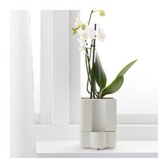 """SÖTCITRON Self-watering plant pot, indoor/outdoor white, white $6.99 Article Number: 502.887.73 Size 4 ¼ """""""