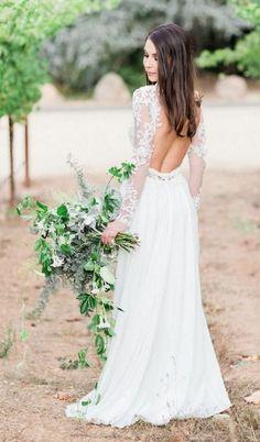 Elegant wedding dress idea via Koman Photography / http://www.deerpearlflowers.com/fall-winter-long-sleeve-wedding-dresses/2/