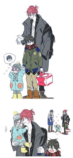 HaruRin family ... Free! - Iwatobi Swim Club, haruka nanase, haru nanase, haru, nanase, haruka, free!, iwatobi, rinharu, rin matsuoka, matsuoka, rin, harurin