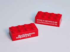 Building Block as Architecture Business Cards. Very creative designed for the Faculty of Architecture, Free University Brussels