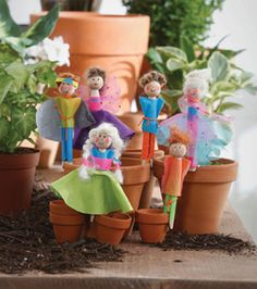DIY Clothespin Dolls // Create your own garden markers with the We Made It by Jennifer Garner line on Joann.com