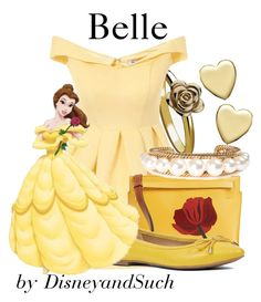 """""""Belle"""" by disneyandsuch ❤ liked on Polyvore featuring Virtue London, Chi Chi…"""