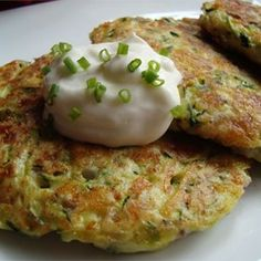 "Zucchini Patties | ""I used this recipe for the first time for company and it was a HUGE SUCCESS! I found it very easy to make and will absolutely do it again. Thanks."""