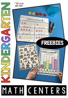 Teach addition and subtraction - shapes and geometry - teen numbers - how to measure and graph place value - sums of 5 - subitizing and number bonds - kindergarten math centers - math worksheets - math activities - math printables - FREE kindergarten math Kindergarten Math Worksheets, Kindergarten Teachers, Teaching Math, Math Activities, Math Resources, Addition Activities, Teen Numbers, Math Courses, Primary Maths