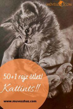 Hoztunk Neked 50+1 tippet rajzoláshoz, arra az esetre, ha kifogytál volna az ötletekből! Kattints és nézd meg őket! Techno, Cats, Movies, Movie Posters, Animals, Gatos, Animales, Kitty Cats, Film Poster