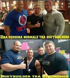 Jay Cutler next to a normal person and next to strongmen Brian Shaw Krzysztof Radzikowski and Zydrunas Savickas #bodybuilding #fitness #gym #fitfam #workout #muscle #health #fit #motivation #abs #fitspo
