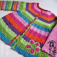 Flower cardigan - updated version February 2013