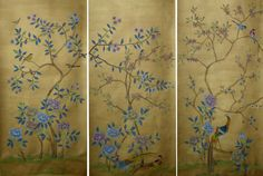 Exquisite hand painted wallpaper, hand painted fabrics, Oriental Hand-painted Art & Design Studio presenting better hand painted wallpaper, chinoiserie wallpaper for you. Chinese Wallpaper, Silk Wallpaper, Hand Painted Wallpaper, Hand Painted Fabric, Chinoiserie Wallpaper, Wallpaper Panels, Painting Wallpaper, Hand Painting Art, Chinese Painting