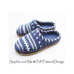 Sweater Clog Slip-In Slippers Crochet Pattern. Tailored Cord-Soles added, these will last for years!