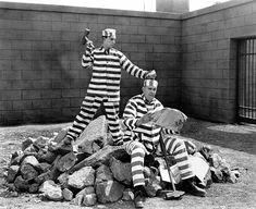 "Buster Keaton and Joe Robertson ""Convict 13"" 1920"