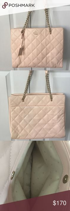 Kate Spade Emerson Place Large Phoebe Bag 100% Authentic Beautiful light pink/blush colored Quilted bag! This bag has only been used a couple of times and is in EXCELLENT condition no flaws! This is a medium sized bag with lots of compartments and space! 🚫NO TRADES AND NO LOWBALL OFFERS🚫 kate spade Bags Shoulder Bags