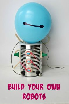 Create a tinker box and build robot puppets -- great STEM activity! science for kids | engineering for kids