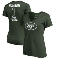 New York Jets NFL Pro Line by Fanatics Branded Women's Plus Sizes Number One Mom T-Shirt - Green