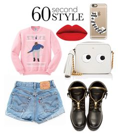 """""""Untitled #41"""" by nanamariam on Polyvore featuring Balmain, Anya Hindmarch, Levi's, Casetify, men's fashion, menswear, DRAKE, views and 60secondstyle"""