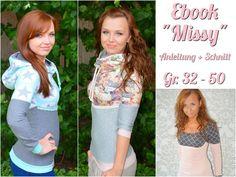 Ebook Damen Hoodie Missy  von Melian´s kreatives Stoffchaos  auf DaWanda.com - kein kostenloser Schnitt, aber toll als Inspiration