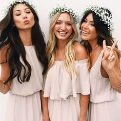Simple yet classic... The perfect bridesmaids @showmeyourmumu