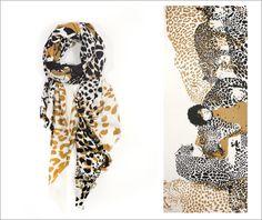 Animal print scarf.