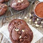 Double Chocolate Hazelnut Cookies with Sea Salt