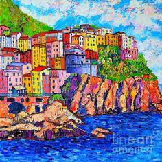 Manarola Cinque Terre Italy Detail ~ Ana Maria Edulescu  prints available on fineartamerica.com
