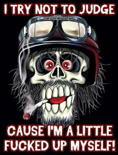 Harley Davidson News – Harley Davidson Bike Pics Badass Quotes, Funny Quotes, Gangsta Quotes, Biker Quotes, Military Humor, Grim Reaper, Skull And Bones, Twisted Humor, Skull Art