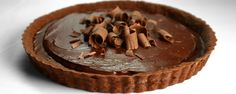 Triple Chocolate Tart by Carla Hall - Chai-infused ganache adds another dimension of flavor to this otherwise chocolately confection. Chocolate Lasagna Dessert, Pie Dessert, Chocolate Desserts, Dessert Recipes, Craving Chocolate, Decadent Chocolate, Chocolate Chocolate, Tea Recipes, Dessert Ideas