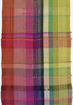 """Textile, """"Mexican Plaid"""", ca. 1938 - Dorothy Wright Liebes"""