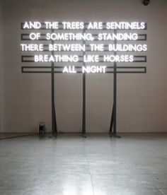 London-based poet and artist Robert Montgomery concentrates his thoughts and feelings into words and then projects these in public spaces.