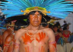 Bororo-Boe man from Mato Grosso at Brazil's Indigenous Games
