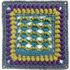 The Kalevala sea crochet square pattern is part of the Kalevala CAL crochet-along. 19 Finnish crochet designers have created the crochet blanket project. Crochet Bunting, Crochet Squares Afghan, Crochet Square Patterns, Crochet Motif, Crochet Designs, Knitting Designs, Free Crochet, Knitting Patterns, Knit Crochet