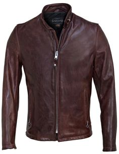 $615 Cowhide Casual Racer 654 in Black Cherry. Schott NYC regarded as quality leather.