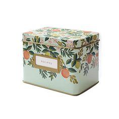 Rifle Paper Co. Tin Recipe Box - Citrus Floral