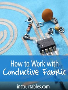 Conductive fabric is idea for wearables, soft circuitry, e-textiles, and other projects that take advantage of its properties.