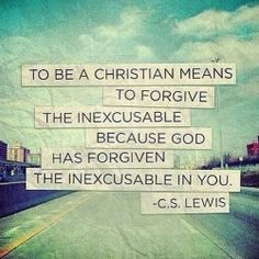 Why is it so hard for me to forgive people who are so cruel to me and hurt me, when Jesus forgave people who did far worse things to Him..