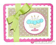 DeNami Polka Dot Birthday Cake card