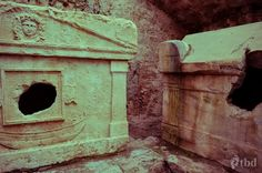 Ancient tombs at Olympos. Ancient Tomb, Ancient Ruins, Mystic, Traveling, Outdoor Decor, Home Decor, Viajes, Decoration Home, Room Decor