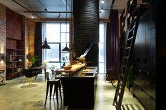 Cucina in stile industriale di design 10