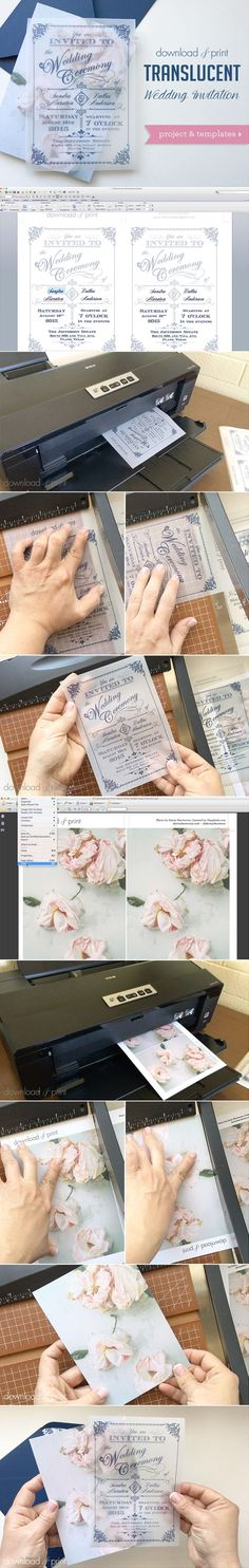 Translucent Wedding Invitation DIY with Download & Print