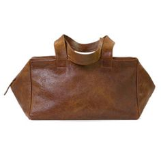 Kisim Total Wide - Vintage Gingi - Our bag of the season in supple cognac, pebbled leather.